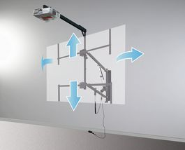 Soporte abatible de pared para Pizarra Digital y Video Proyector de video de corta distancia