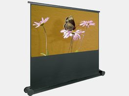 Pantalla Butterfly Mobile desplegable manual (hacia arriba) con ruedas 240X180 cm