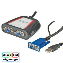 Portátil Video VGA Splitter para 2 monitores
