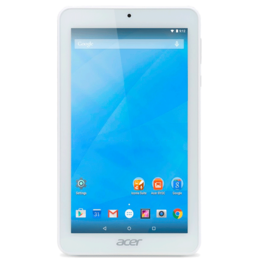 "TABLET ACER Iconia One 7 (B1-770) 7"" IPS (1024 x 600), MTK MT8127 quad-core, 16 GB , 1 GB DDR3, Webcam Frontal 0,3MP, Webcam Trasera 2MP, Andorid 5.0 Lollipop - Blanco REF. NT.LBKEE.005"