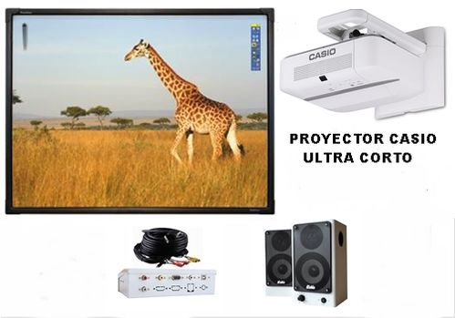 Pizarra Digital Interactiva Promethean rotulable táctil AB10T88D de 88 CON PROYECTOR LED LASER CASIO