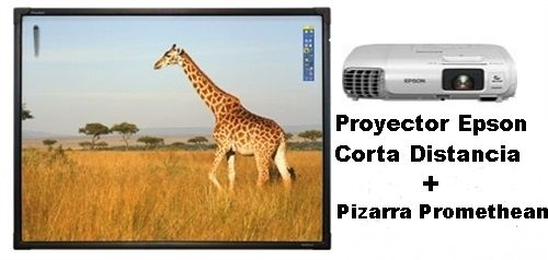 Pizarra Digital Interactiva Promethean táctil ActivBoard AB10T78D de 78 on proyector EPSON EB-530