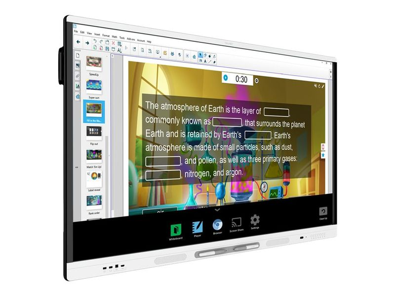 "Panel Interactivo SMART Board MX265 Interactive Display 65"" 4K con OPS M40. Incluye Soporte de Pared."
