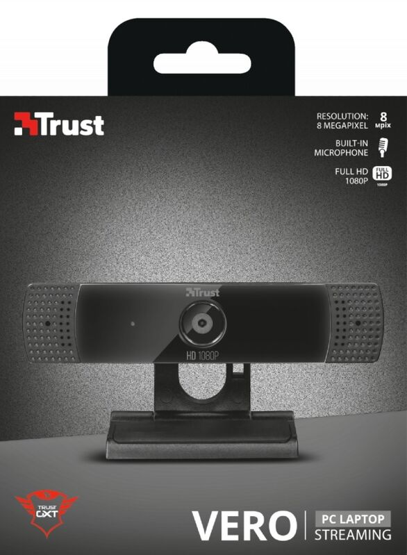WEBCAM PARA STREAMING TRUST GXT 1160 FULLHD MICROFONO STEREO ENFOQUE FIJO